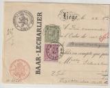 Belgien, 1890, 10 + 20 Ct. als MiF auf Wechsel / Scheck (?)