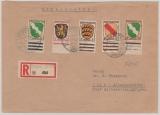 FRZ / Allgem. Ausgaben, nette MiF (incl. der 10 Pfg.!) auf Einschreiben- Fernbrief von Wurzach nach Altmannshofen