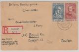 FRZ / Allgem. Ausgaben 2 + 5 Fr., nette MiF  auf Einschreiben- Fernbrief von Koblenz nach Beuel