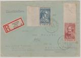 FRZ / Allgem. Ausgaben 2 + 5 Fr., nette MiF  auf Einschreiben- Fernbrief von Tettnang nach Bad Tölz