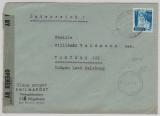 FRZ / Baden, 50 Pfg. als EF auf Auslandsbrief von Hügelheim nach Lungau (A), mit seltener Zensur!