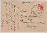 FRZ / Baden, 24 Pfg. als EF auf schöner Werbepostkarte anlässlich der BIGA (1947) mit entsprechendem Sonderstempel!