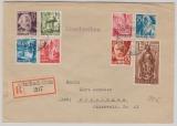 FRZ / Rheinland Pfalz, nette MiF der ersten Ausgabe, auf Einschreiben- Fernbrief von Heimbach- Weis nach Göttingen