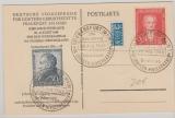 Bizone, Goethesatz auf Maximumkarte mit anlassbezogenem Sonderstempel