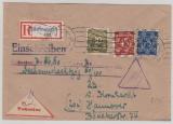 Bizone, Nr. 63I + 65II + 67 II zus. als MiF auf Nachnahme- Einschreiben- Fernbrief von Göttingen nach Hannover
