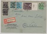 Kontrollrat / West, Zehnfach- MiF mit u.a. 960 OR dgz + Bizone 51 II..., auf Einschreiben von Luhe- Wildenau nach Luhe