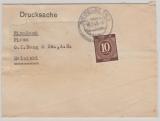 Kontrollrat / West, Mi. Nr.: 918 als EF auf Auslands- Drucksache (Streifband) von Heidelberg nach Helsinki