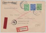 Kontrollrat / West, Mi. Nrn.: 936 u.a. als MiF auf Eilboten- Einschreiben von Tirschenreuth nach Augsburg