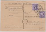 Kontrollrat / West, Not-GS, 6 Pfg. von Siegen + Zusatzfrankatur (AM- Post) von Siegen nach Bielefeld