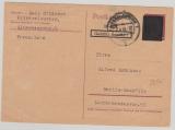 Kontrollrat / West, Not-GS, 12 Pfg. als Postkarte von Kaiserslautern nach Berlin