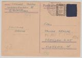 Kontrollrat / West, Not-GS (PC 805 T?), 6 Pfg. als Postkarte von Markelfingen nach Dresden