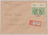 AM- Post, Mi.Nr. 31 (2x) vom OR als MeF auf Orts- Einschreiben innerhalb Hamburg´s