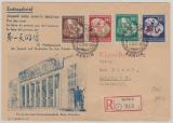 DDR, 289- 92, kpl. Satz auf eingeschriebenem FDC, von Berlin nach Leipzig, rs. mit Ankunftsstempel