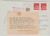 BRD / Berlin Mi.- Nr.: 288 (2x) Auslandsbrief nach Kaliningrad (UDSSR) mit Zurücksendevermerk vom PA Hannover 3...