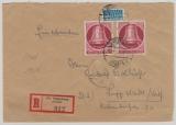 BRD / Berlin Mi.- Nr.: 86 (2x) als MeF auf Eingeschriebenem Fernbrief von Oldenburg nach Lippstadt