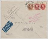 Dänemark, 1931, Luftpostbrief von Kopenhagen nach Leipzig, via Hamburg - Fulsbüttel Flughafen