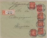 Infla, Mi.- Nr.: 182 (5x) u.a., als MiF auf Einschreiben- Fernbrief von Süpplingen nach Königslutter