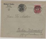 Infla, Mi.- Nr.: 104 + 199 c, als MiF auf Fernbrief von Borna nach Berlin, geprüft
