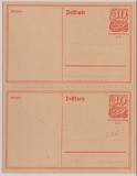 Infla, 40 Pfg.- Postreiter- GS, gezähnt (!), 2 zusammenhängende Stücke, ungebraucht!