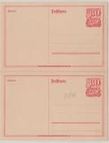 Infla, 80 Pfg.- Postreiter- GS, gezähnt (!), 2 zusammenhängende Stücke, ungebraucht!