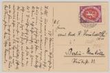 Infla, Mi.- Nrn: 110 b, als EF auf Fernpostkarte von Barmen nach Berlin