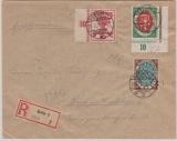 Infla, Mi.- Nrn: 107- 9, zusammen als MiF auf  Einschreiben- Ortsbrief innerhalb Berlin´s