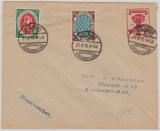 Infla, Mi.- Nr.: PH 42 A A!/01 (?), 107 als GS- Umschlag + 108 + 109 als Zusatzfrankatur, auf Einschreiben- Fernbrief!