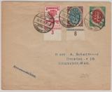 Infla, Mi.- Nr.: 109 als Privat- GS- Umschlag + 107 + 108 als Zusatzfrankatur, auf Fernbrief! Mit ausgabenbezogenem Sonderstempel!