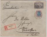 Infla, Mi.- Nr.: 96 + 152 als MiF auf Einschreiben- Fernbrief von Cannstatt nach Wurzen! Selten!