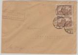 Infla, Mi.- Nr.: 114 b (2x) als MeF auf Fernbrief von Mannheim nach Karsruhe!