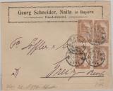 Infla, Mi.- Nr.: 114 (4x) als MeF auf Fernbrief von Naila nach Greiz! Geprüft Infla!