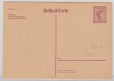 15 Pfg. Flugpost, graulila, Lupo- Karten- GS, (Mi.- Nr.: P169b), ungebraucht