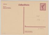 15 Pfg. Flugpost, graulila, Lupo- Karten- GS, (Mi.- Nr.: P169a), ungebraucht