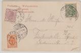 Kaiserreich, Mi.- Nr.: 70 in 3 Länder MiF (D, A, Russland) auf gelaufener Postkarte von Myslowitz nach Fürstenwalde