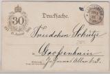 Kaiserreich, 5 Pfg.- privat- GS zur 30 jährigen- Kaiserreichproklamation in Versailles, 1871, innerhalb Großenhain