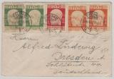 Fiume, 1920, schöne und interessante MiF auf Brief nach Dresden