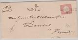 Brustschilder, Mi.- Nr.: 19, als EF auf Fernbrief von Dobbw.... (?) nach Hagenow (?), => Nachverw. Alt- D. Stempel!!!