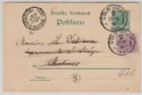 Krone + Adler / Pfennig, 5 Pfg.- GS + Mi.- Nr.: 40 als Zusatz, verwendet als Auslandskarte von Köln nach Malines (B)