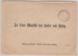 1894, Brief des Kabinets- P.A. (s. Stempel), an Seine Majestät den Kaiser und König