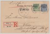 Krone + Adler, Mi.- Nr.: 46 + 48, verwendet auf eingeschriebener Auslandskarte von Berlin nach Wien (A), gepr. BPP