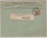 Krone + Adler, Mi.- Nr.: 45, als EF verwendet auf Auslands- Drucksachenbrief von Berlin nach Bozen-Gries (A)