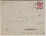 Krone + Adler, 10 Pfg. GS- Umschlag (groß) gebraucht als EF von Adlershof b. Berlin, nach Berlin, besserer Stempel!