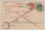 Germania, 5 Pfg. Germania- Reichspost- GS, + Mi.- Nr.: 49 als Zusatzfrankatur verwendet als Eilboten- Fernpostkarte
