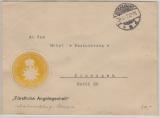 Germaniazeit, 1917, Dienstbrief, Fürstliche Angelegenheit (Schaumburg- Lippe), auf Fernbrief von Bückeburg nach Eisenach