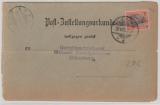 Kaiserreich; 1900, Germania, Mi.- Nr.: 59 als EF auf Post- Zustellungsurkunde von Wilhelmshaven nach Oldenburg