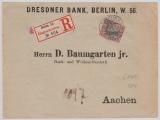 Kaiserreich; 1900, Germania, Mi.- Nr.: 60 als EF auf Einschreiben- Fernbrief von Berlin nach Aachen