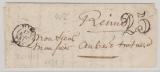 Frankreich, 1851, Vorphilabrief von Reims nach Paris