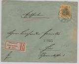 Kaiserreich; 1902, Germania, Mi.- Nr.: 58 als EF auf Einschreiben- Ortsbrief innerhalb Magdeburg´s