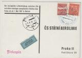 CSSR, 1937, Luftpost- Werbekarte, gelaufen von Zlin nach Prag, nette Werbekarte rückseitig!