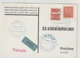 CSSR, 1937, Luftpost- Werbekarte, gelaufen via Luftpost von Brün nach Piestany, nette Werbekarte rückseitig!
